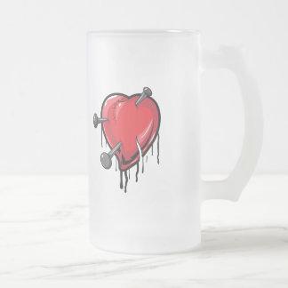 Red Heart Nails Love Hearts Mugs