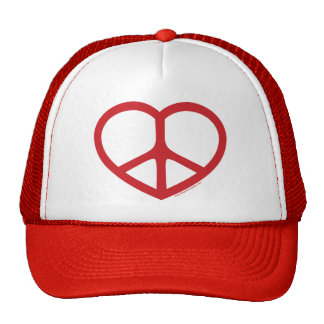 Red Heart of Love, Peace Sign Cap