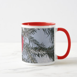 Red Heart on Pine Branch Mug