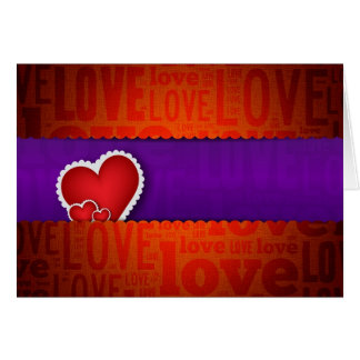 Red heart paper classic valentine s day greeting card