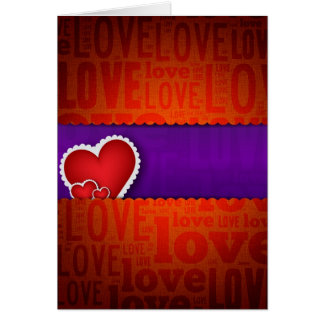 Red heart paper classic valentine s day greeting cards