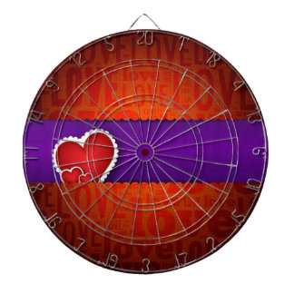 Red heart paper classic valentine s day dartboard with darts