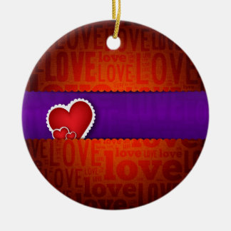 Red heart paper classic valentine s day christmas tree ornament