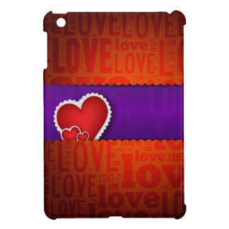 Red heart paper classic valentine s day iPad mini covers