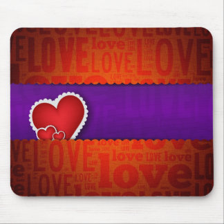 Red heart paper classic valentine s day mouse pads