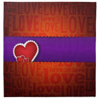 Red heart paper classic valentine s day napkin