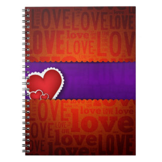 Red heart paper classic valentine s day journals