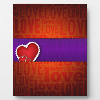 Red heart paper classic valentine s day plaques