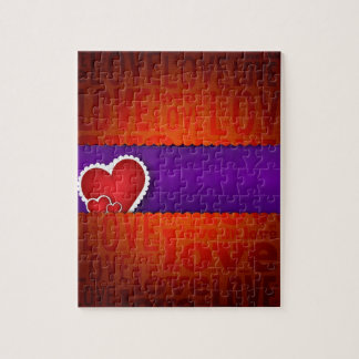 Red heart paper classic valentine s day puzzle