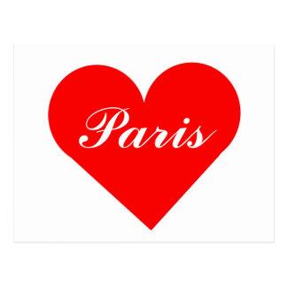 Red Heart Paris Postcard