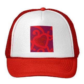 Red Heart Pattern (2) Hats