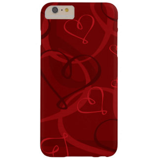 Red heart pattern barely there iPhone 6 plus case
