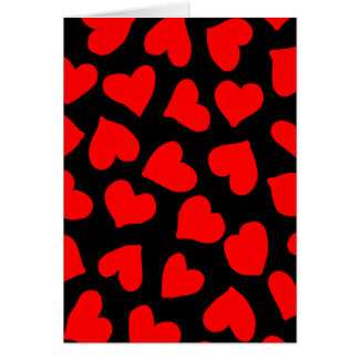 Red Heart Pattern Greeting Card