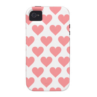 Red Heart Pattern iPhone 4 Covers