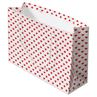 Red Heart Pattern Love Large Gift Bag