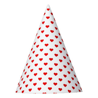 Red Heart Pattern Love Party Hat