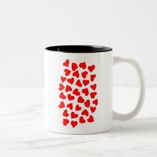 Red Heart Pattern Mugs