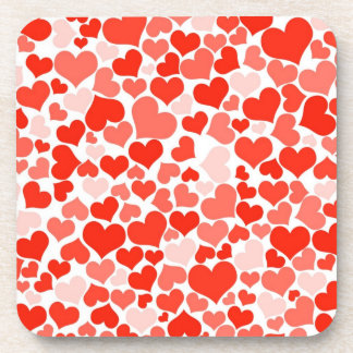 Red Heart Patterned Coaster