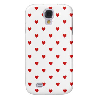 Red Heart Patterned Samsung Galaxy S4 Cases