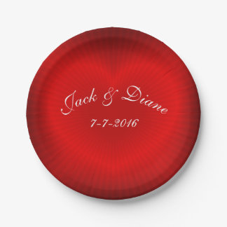 Red Heart Personalize Paper Plate