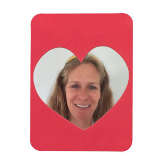 Red Heart Photo Frame Magnet