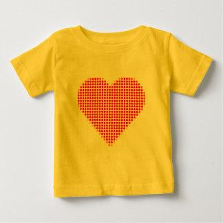 Red heart polka dots tees