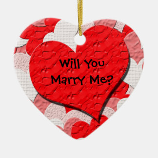 Red Heart Proposal Ornament