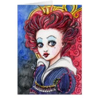 Red Heart Queen Greeting Card