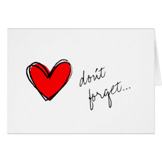 Red Heart Reminder Card