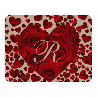 Red Heart Roses Wedding Save the Date Card