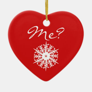 Red Heart Shape Christmas Proposal Decoration