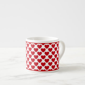 Red Heart Shapes Filled with Roses Espresso Cup