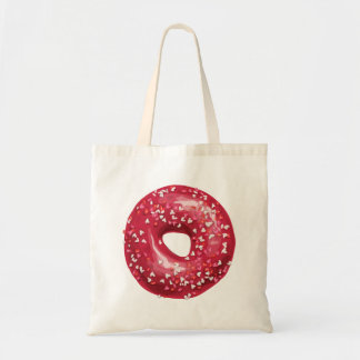 Red Heart Sprinkles Doughnut. Tote Bag