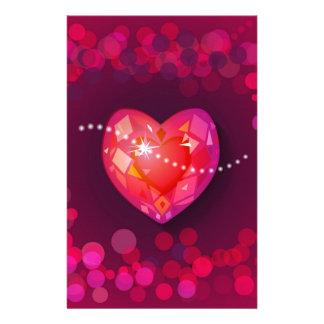 red  heart custom stationery