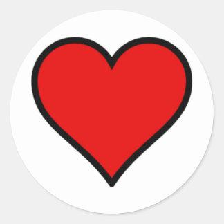Red Heart Classic Round Sticker