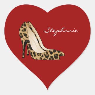 Red Heart & Stiletto Heels Sticker