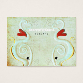 Red Heart Swirls 3dimension Business Card