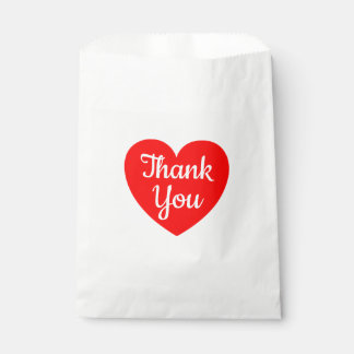Red Heart Thank You Wedding, Party, Bridal Shower Favour Bag