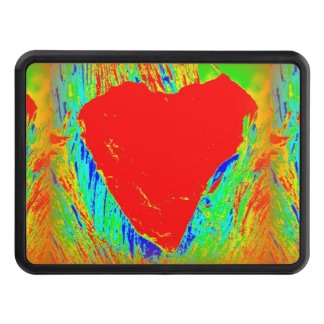 red heart trailer hitch cover