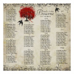 Red Heart Tree- 100 to 150 guests - alphabetical