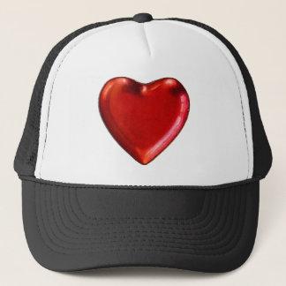 Red heart trucker hat