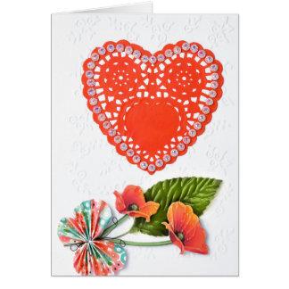 Red Heart Valentine Card