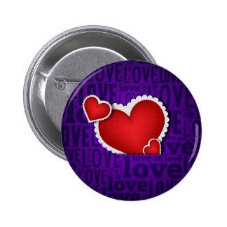 Red heart valentine s day pins