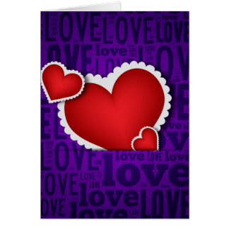 Red heart valentine s day card