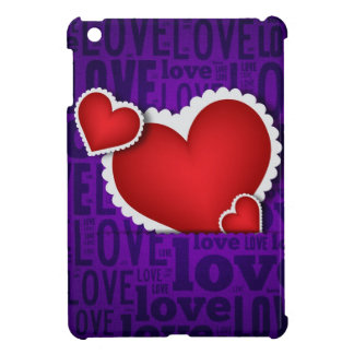 Red heart valentine s day case for the iPad mini