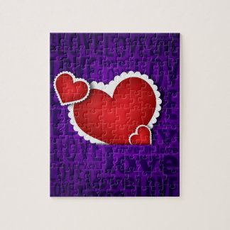 Red heart valentine s day jigsaw puzzles