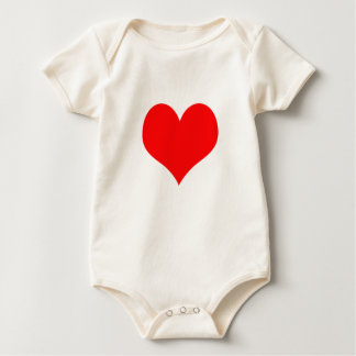 Red Heart Valentines Day Design Rompers