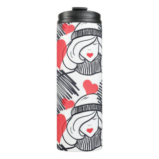 Red Heart Winter Lady Thermal Tumbler