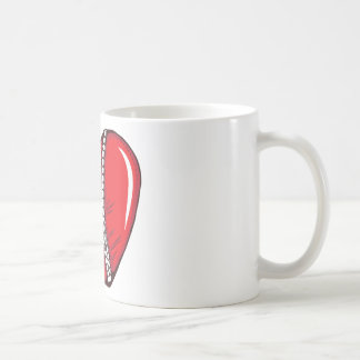 Red Heart Zipper Love Hearts Coffee Mug