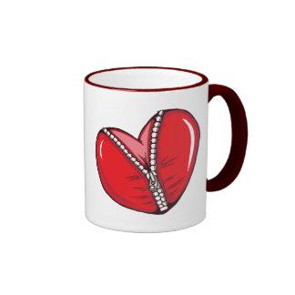 Red Heart Zipper Love Hearts Mug